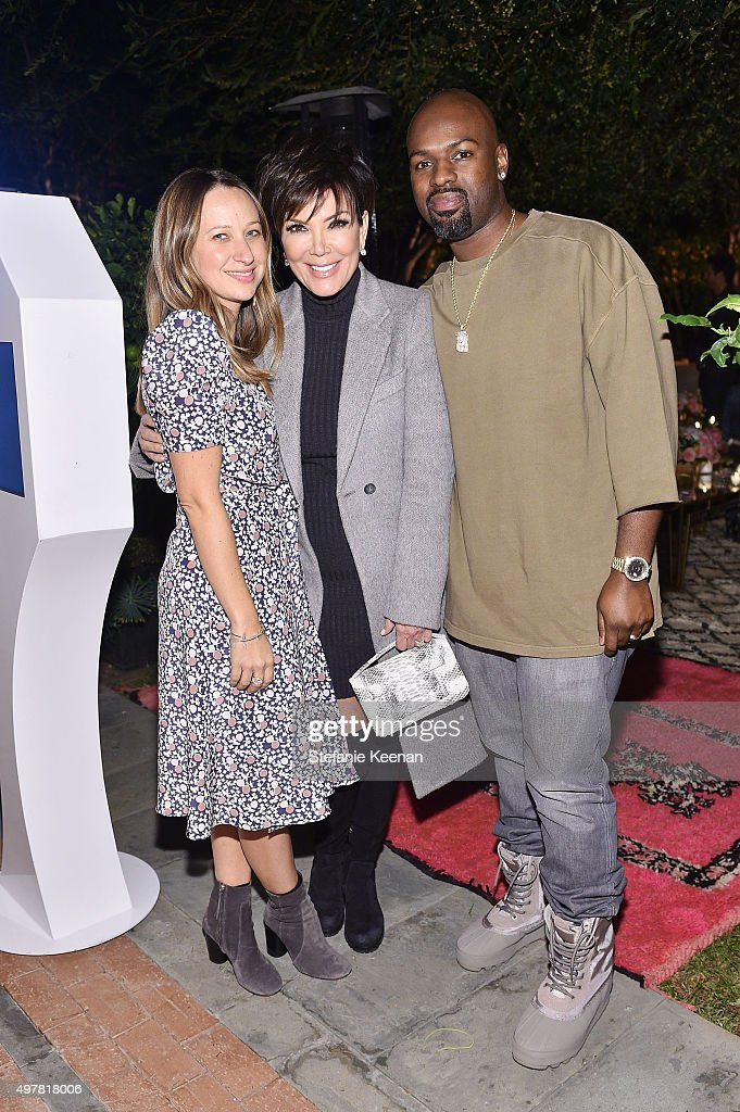 Designer Jennifer Meyer Corey Gamble and TV Personality Kris Jenner attend Barneys New York Jennifer Aniston and Tobey Maguire host a private dinner...