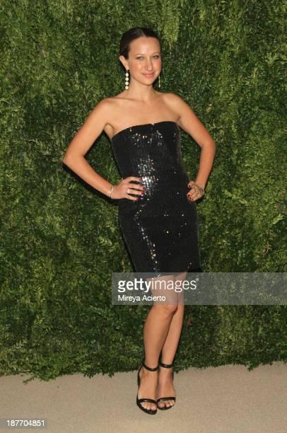 Designer Jennifer Meyer Maguire attends CFDA and Vogue 2013 Fashion Fund Finalists Celebration at Spring Studios on November 11 2013 in New York City