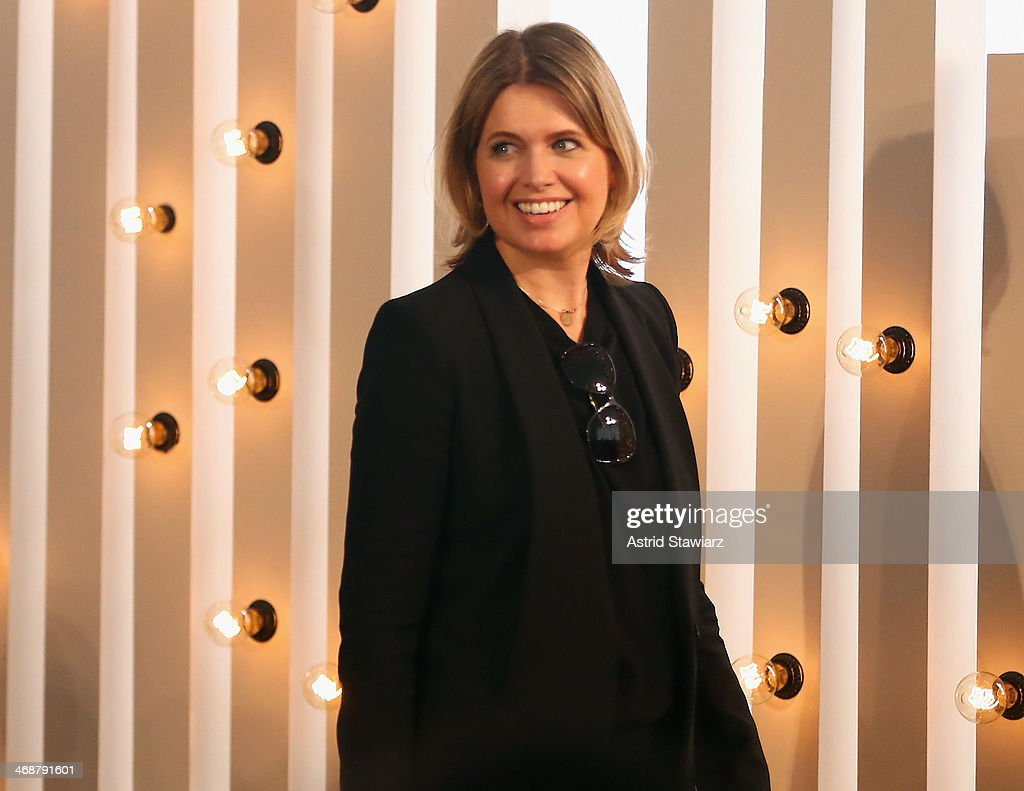 Designer Jenny Packham attends the Jenny Packham fashion show with TRESemme during MercedesBenz Fashion Week Fall 2014 at Industria Superstudio on...