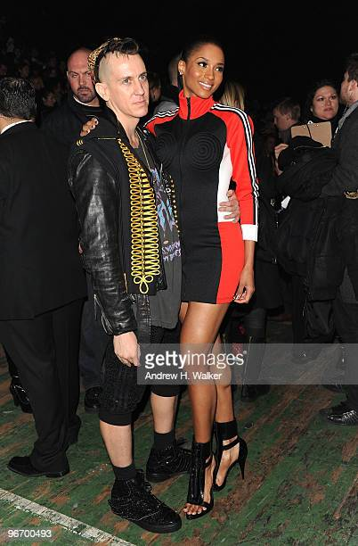 Designer Jeremy Scott and singer Ciara attend the Y3 Autumn/Winter 2010 Fashion Show during MercedesBenz Fashion Week at the Park Avenue Armory on...