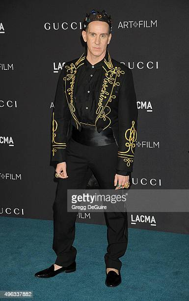 Designer Jeremy Scott arrives at the LACMA 2015 ArtFilm Gala Honoring James Turrell And Alejandro G Inarritu Presented By Gucci at LACMA on November...
