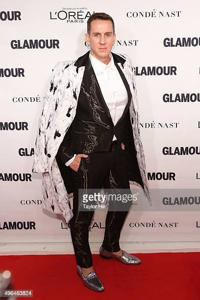 Designer Jeremy Scott attends Glamour's 25th Anniversary Women Of The Year Awards at Carnegie Hall on November 9 2015 in New York City