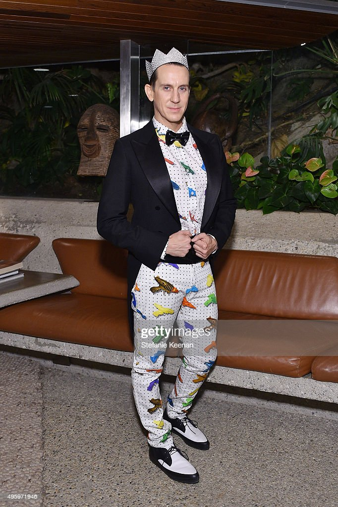 Designer Jeremy Scott attends Jeremy Scott For Longchamp 10th Anniversary held at a Private Residence on November 5, 2015 in Beverly Hills, California.