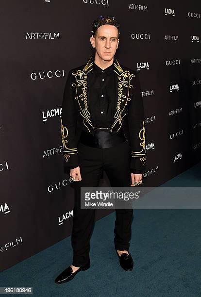Designer Jeremy Scott attends LACMA 2015 ArtFilm Gala Honoring James Turrell and Alejandro G Iñárritu Presented by Gucci at LACMA on November 7 2015...