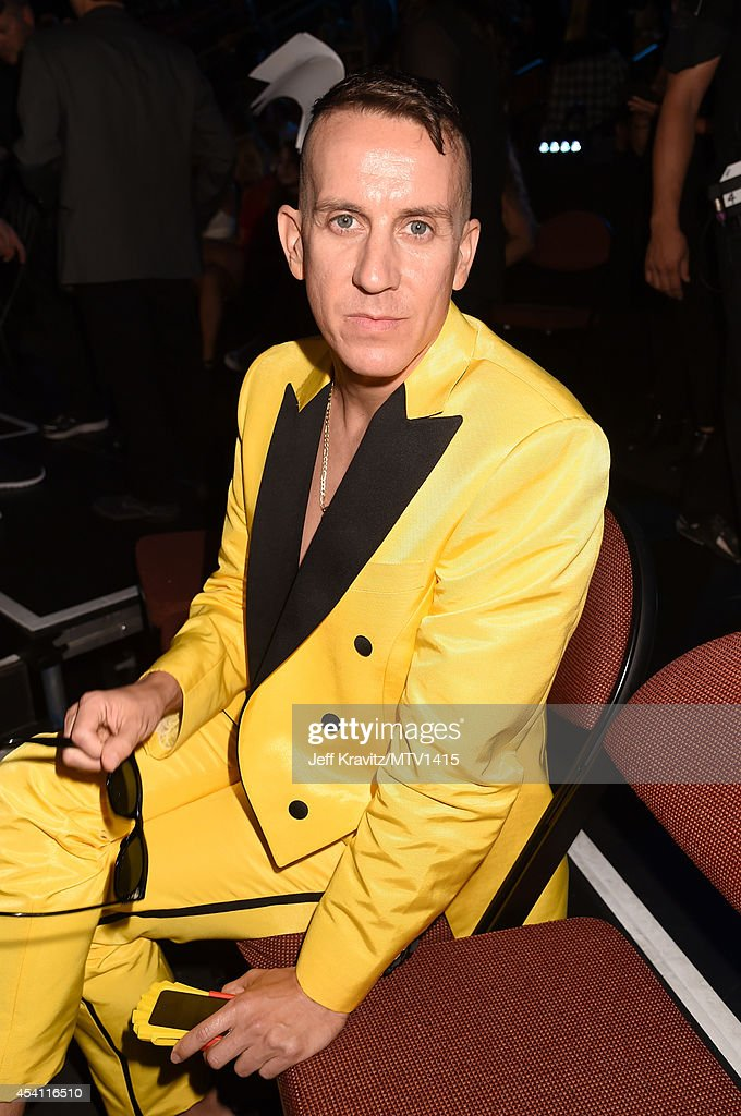 Designer <a gi-track='captionPersonalityLinkClicked' href=/galleries/search?phrase=Jeremy+Scott+-+Fashion+Designer&family=editorial&specificpeople=8682070 ng-click='$event.stopPropagation()'>Jeremy Scott</a> attends the 2014 MTV Video Music Awards at The Forum on August 24, 2014 in Inglewood, California.