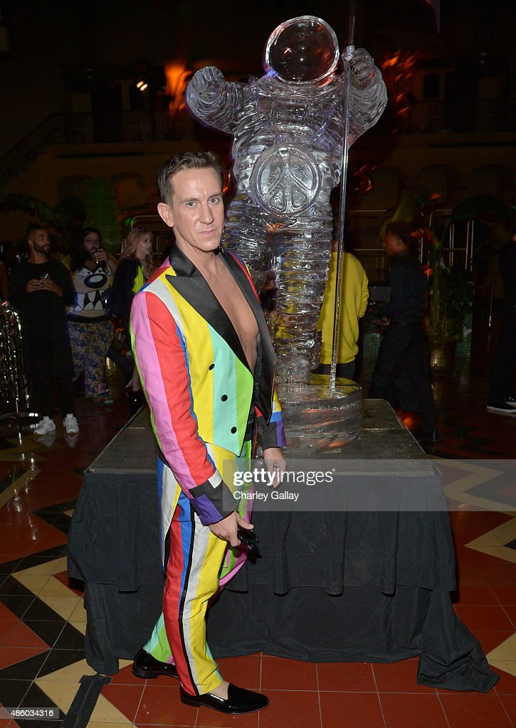 Designer Jeremy Scott attends the Jeremy Scott and adidas Originals VMA's After Party with Spirits Sponsored By Svedka Vodka at Union Station on...