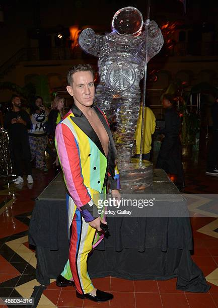 Designer Jeremy Scott attends the Jeremy Scott and adidas Originals VMA's After Party with Spirits Sponsored By Svedka Vodka at Union Station on...