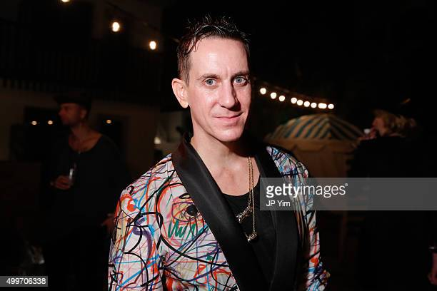 Designer Jeremy Scott attends the Jeremy Scott Art Basel Party at The Hall on December 2 2015 in Miami Beach Florida