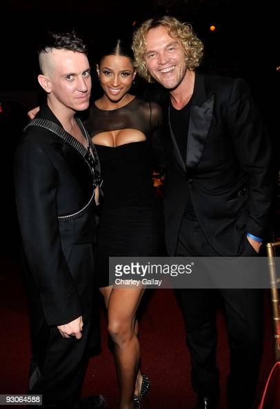 Designer Jeremy Scott singer Ciara and designer Peter Dundas attend the MOCA NEW 30th anniversary gala held at MOCA on November 14 2009 in Los...