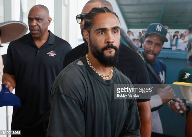 Designer Jerry Lorenzo attends the New Era Cap X Fear Of God Pop Up at Alchemist on July 10 2017 in Miami Beach Florida