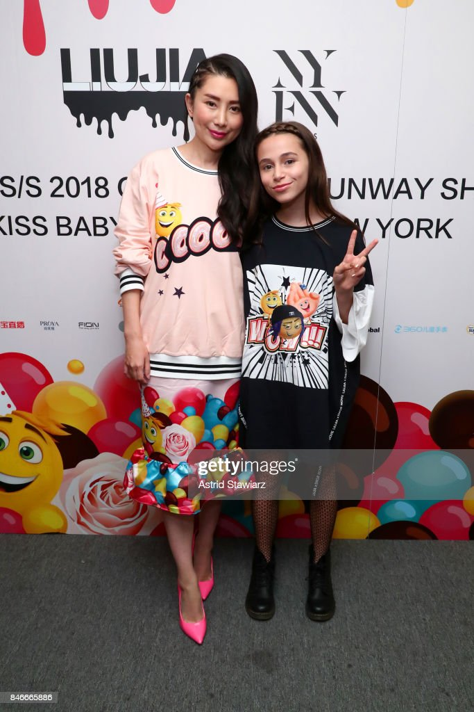 Designer Jia Liu and Sky Katz backstage for the Jia Liu fashion show during New York Fashion Week: The Shows at Gallery 2, Skylight Clarkson Sq on September 13, 2017 in New York City.