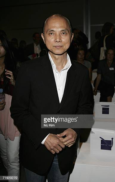Designer Jimmy Choo is seen at the Ben de Lisi Fashion show as part of London Fashion Week Spring/Summer 2007 in the BFC tent on September 18 2006 in...