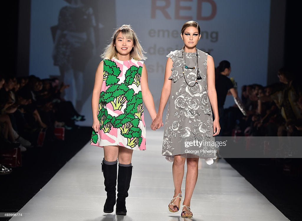 Designer Jing Zhao presents her spring 2016 collection at the Red: Emerging Designer Showcase spring 2016 collection during World MasterCard Fashion Week Spring 2016 at David Pecaut Square on October 23, 2015 in Toronto, Canada.
