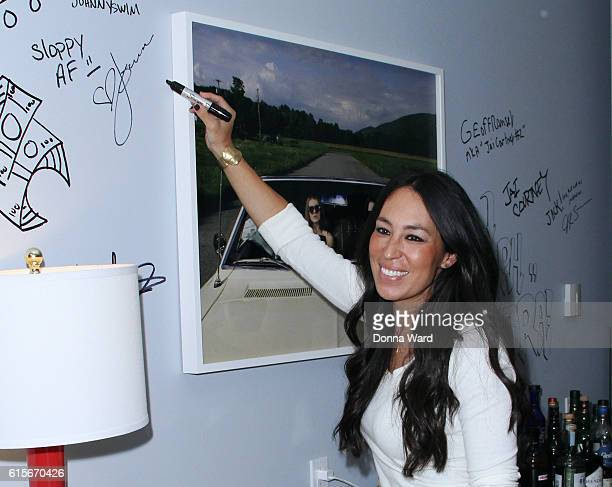 Designer Joanna Gaines appear to promote 'The Magnolia Story' during the AOL BUILD Series at AOL HQ on October 19 2016 in New York City