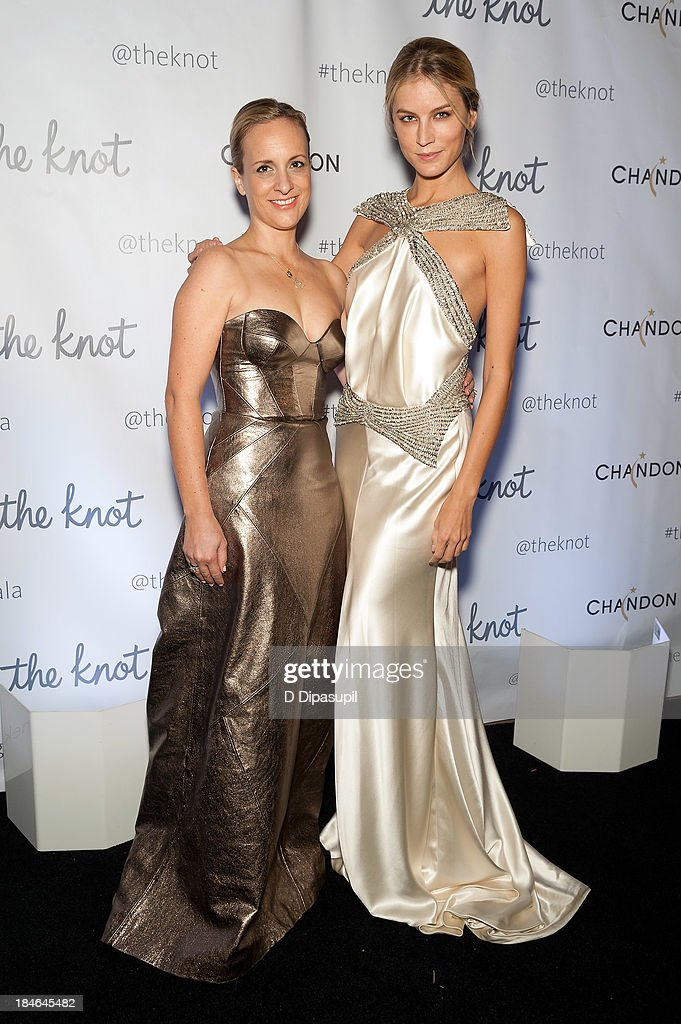 Designer Johanna Johnson (L) attends The Knot Gala at the New York Public Library - Astor Hall on October 14, 2013 in New York City.