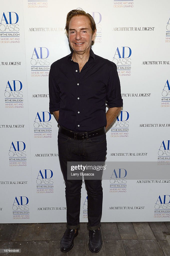 Designer John Barman attends AD Oasis & Sunbrella host Cocktail Party Celebrating AD100 Designer Mark Cunningham at The Raleigh on December 7, 2012 in Miami, Florida.