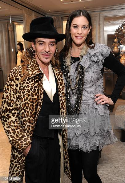 Designer John Galliano and actress Liv Tyler attend the Dior celebration of the reopening of its 57th Street Boutique cocktail party at LVMH Tower...