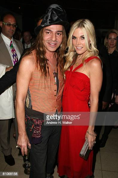 Designer John Galliano and Tinsley Mortimer attend the Christian Dior Cruise 2009 Collection reception May 12 2008 in New York City