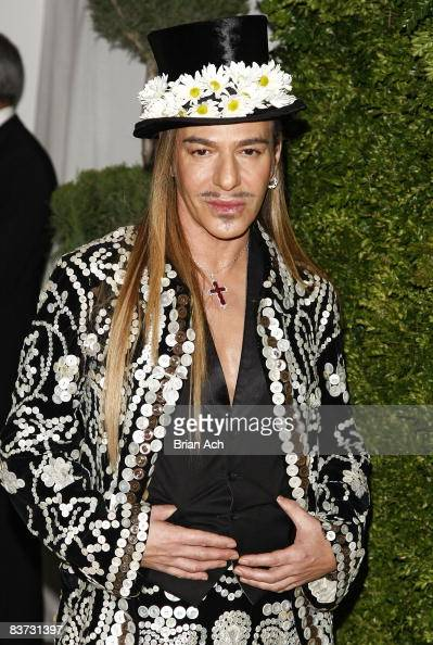 Designer John Galliano attend the 5th Anniversary of the CFDA/Vogue Fashion Fund at Skylight Studios on November 17 2008 in New York City