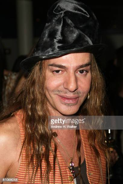 Designer John Galliano attends the Christian Dior Cruise 2009 Collection reception May 12 2008 in New York City