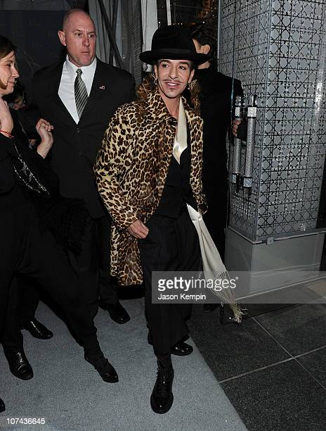 Designer John Galliano attends the Dior celebration of the reopening of its 57th Street Boutique at the LVMH Tower Magic Room on December 8 2010 in...