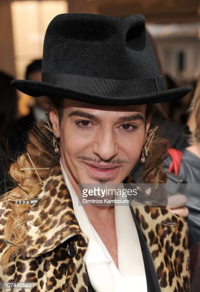 Designer John Galliano attends the Dior celebration of the reopening of its 57th Street Boutique cocktail party at LVMH Tower Magic Room on December...