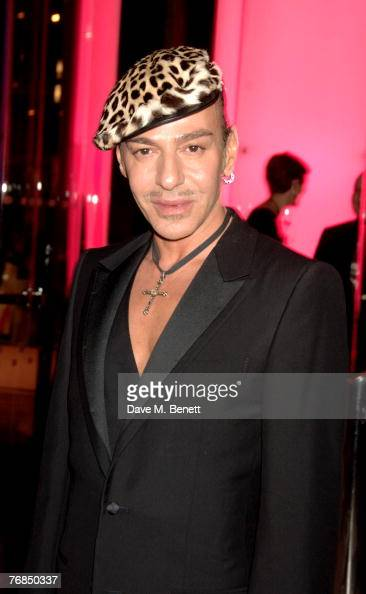 Designer John Galliano attends The Golden Age Of Couture VIP Gala at the Victoria Albert Museum September 18 2007 in London England