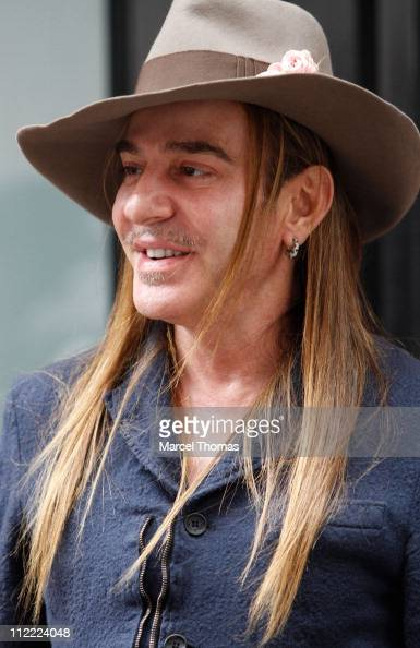 Designer John Galliano is seen on the streets of Manhattan on October 29 2010 in New York New York