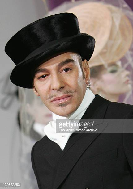 Designer John Galliano walks the runway at the Christian Dior HauteCouture show as part of the Paris Fashion Week Spring/Summer 2010 at Boutique Dior...