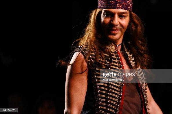 Designer John Galliano walks the runway at the end of the Dior 2008 Cruise collection fashion show on May 14 2007 in New York City