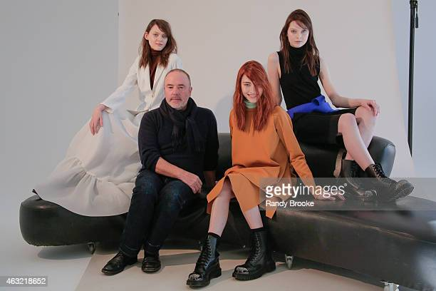 Designer John Patrick and models pose at the Organic by John Patrick Presentation during MercedesBenz Fashion Week Fall Winter 2015 at on February 11...