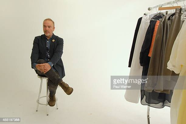Designer John Patrick attends his show the Organic By John Patrick presentation during MercedesBenz Fashion Week Spring 2015 at on September 10 2014...