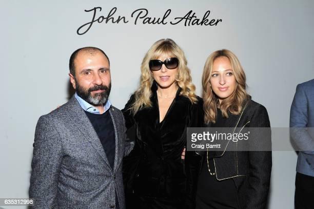 Designer John Paul Ataker Marla Maples and Freida Rothman backstage at the John Paul Ataker Fall Winter 2017 Runway Show at Pier 59 on February 14...