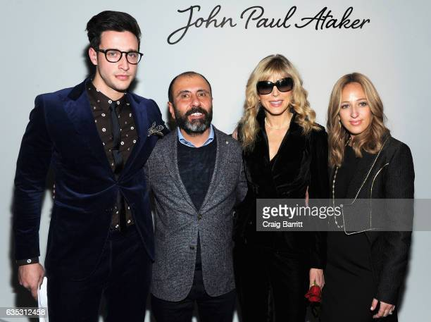 Designer John Paul Ataker poses with Dr Mike Marla Maples andFreida Rothman backstage at the John Paul Ataker Fall Winter 2017 Runway Show at Pier 59...