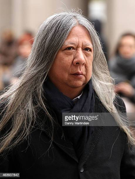 Designer John Rocha attends a memorial service for Professor Louise Wilson during London Fashion Week Fall/Winter 2015/16 at St Paul's Cathedral on...