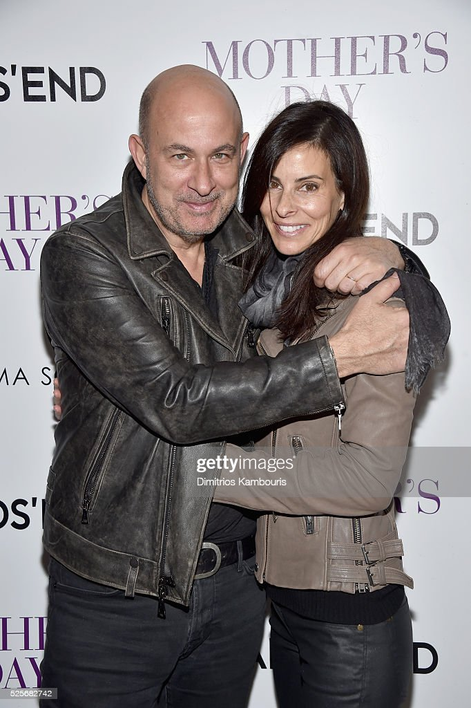 Designer John Varvatos; (L) and Joyce Zybelberg Varvatos attend The Cinema Society with Lands' End screening of Open Road Films' 'Mother's Day' at Metrograph on April 28, 2016 in New York City.