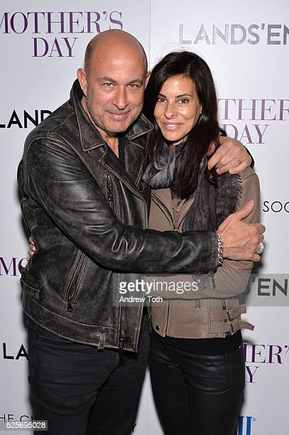 Designer John Varvatos and Joyce Zybelberg Varvatos attend The Cinema Society with Lands' End host a screening of Open Road Films' 'Mother's Day' on...