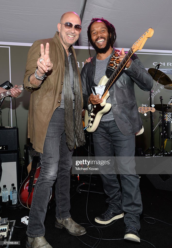 Designer John Varvatos and musician Ziggy Marley attend Chrysler John Varvatos 12th Annual Stuart House Benefit at John Varvatos on April 26 2015 in...