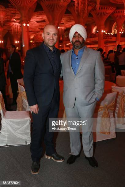 Designer Jonas Upton Hansen and architect Kulmeet Shangari during the launch of prestigious project Elan Miracle hosted by Real Estate Company Elan...