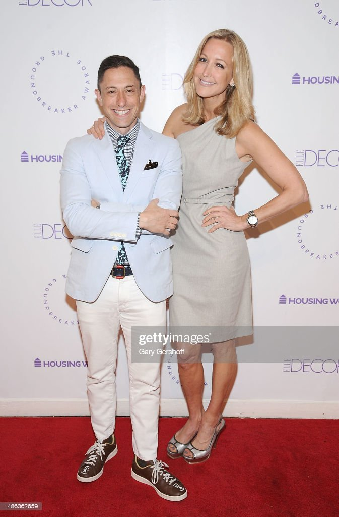 Designer <a gi-track='captionPersonalityLinkClicked' href=/galleries/search?phrase=Jonathan+Adler&family=editorial&specificpeople=2257680 ng-click='$event.stopPropagation()'>Jonathan Adler</a> (L) and event honoree <a gi-track='captionPersonalityLinkClicked' href=/galleries/search?phrase=Lara+Spencer&family=editorial&specificpeople=240321 ng-click='$event.stopPropagation()'>Lara Spencer</a> attend Housing Works Groundbreaker Awards Dinner at The Metropolitan Pavillion on April 23, 2014 in New York City.