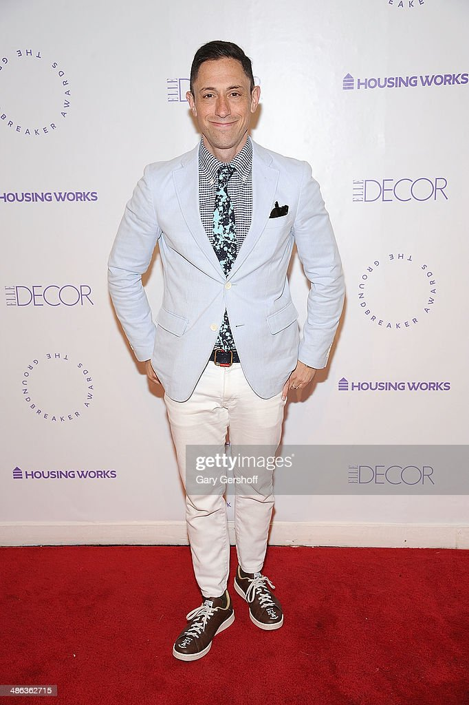 Designer <a gi-track='captionPersonalityLinkClicked' href=/galleries/search?phrase=Jonathan+Adler&family=editorial&specificpeople=2257680 ng-click='$event.stopPropagation()'>Jonathan Adler</a> attends Housing Works Groundbreaker Awards Dinner at The Metropolitan Pavillion on April 23, 2014 in New York City.