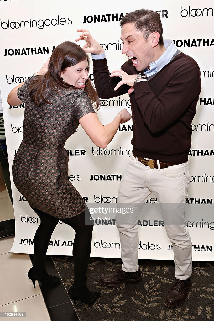 Designer Jonathan Adler (R) attends the Bloomingdale's 59th Street launch of the Jonathan Adler Accessories Collection at Bloomingdale's 59th Street Store on March 1, 2013 in New York City.