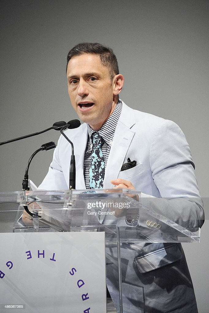 Designer <a gi-track='captionPersonalityLinkClicked' href=/galleries/search?phrase=Jonathan+Adler&family=editorial&specificpeople=2257680 ng-click='$event.stopPropagation()'>Jonathan Adler</a> speaks on stage at Housing Works Groundbreaker Awards Dinner at The Metropolitan Pavillion on April 23, 2014 in New York City.