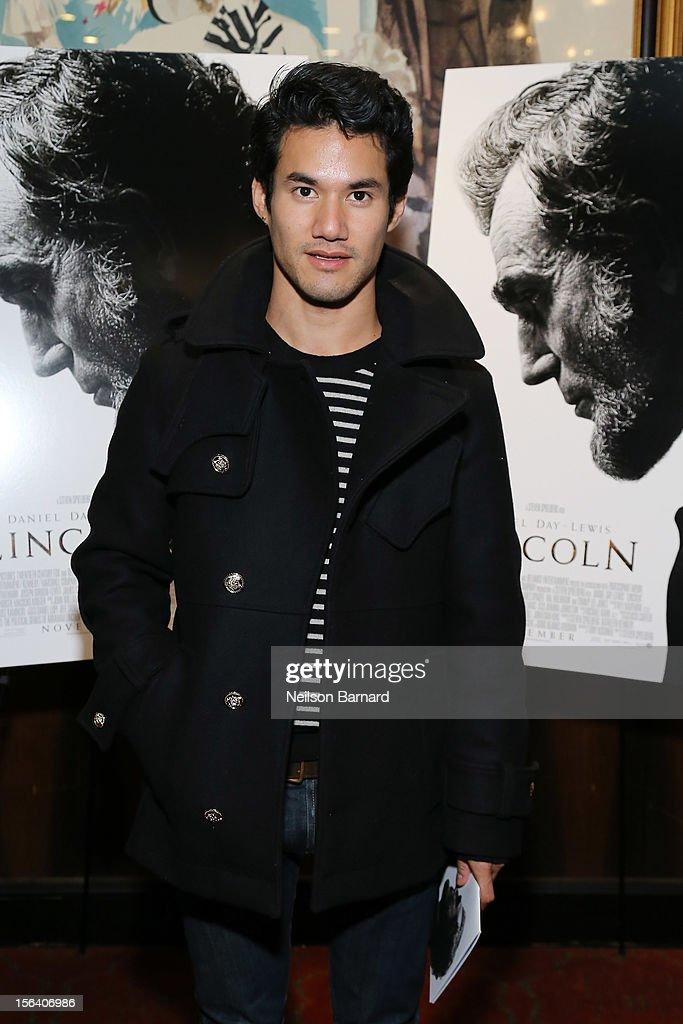 Designer Joseph Altuzarra attends the special screening of Steven Spielberg's Lincoln at the Ziegfeld Theatre on November 14, 2012 in New York City.
