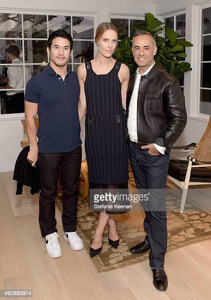 Designer Joseph Altuzarra Executive Creative Director The Line Vanessa Traina and designer Francisco Costa attend The Apartment by The Line LA...