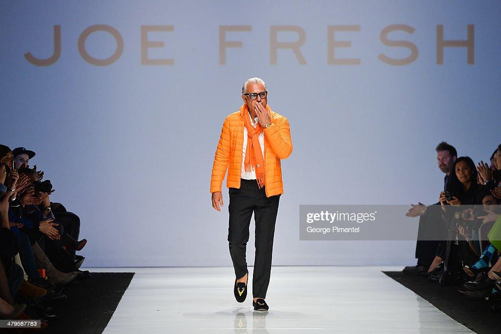 Designer Joseph Mimran presents Joe Fresh fall 2014 collection during World MasterCard Fashion Week Fall 2014 at David Pecaut Square on March 19 2014...