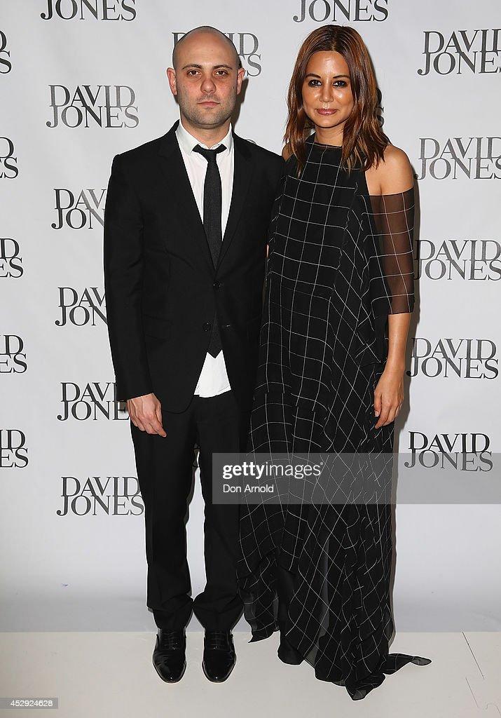 Designer Josh Goot and Vogue fashion editor Christine Centenera arrive at the David Jones Spring/Summer 2014 Collection Launch at David Jones Elizabeth Street Store on July 30, 2014 in Sydney, Australia.