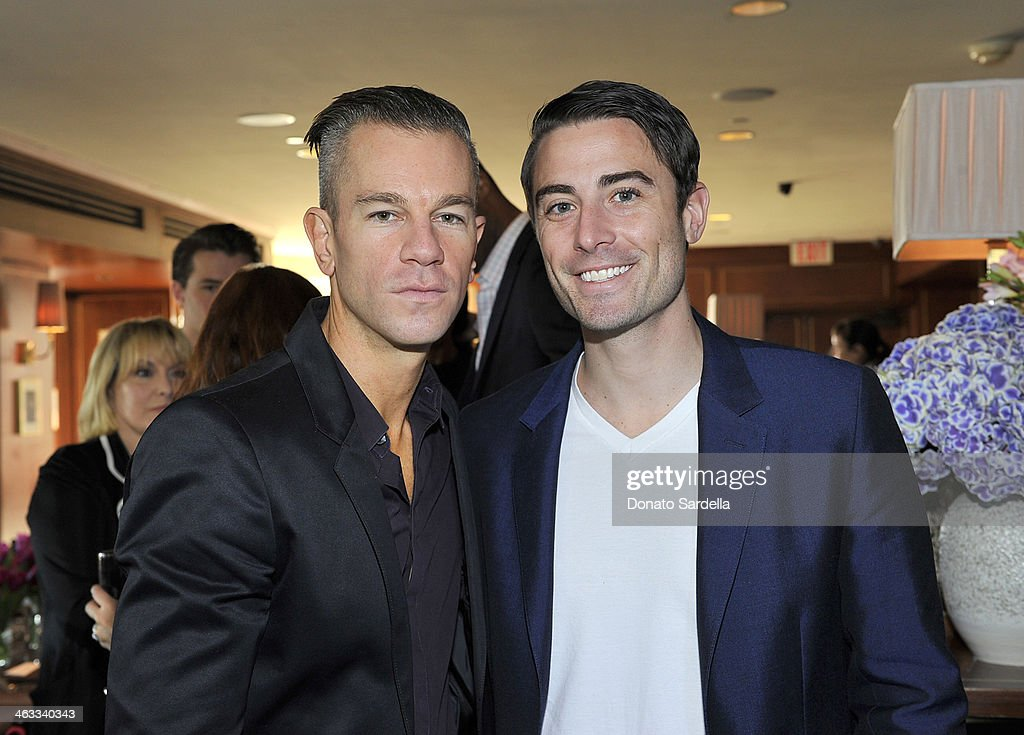 Designer <a gi-track='captionPersonalityLinkClicked' href=/galleries/search?phrase=Josh+Reed&family=editorial&specificpeople=229010 ng-click='$event.stopPropagation()'>Josh Reed</a> (L) and Nick Todisco attends Champagne Taittinger celebrate Men In Hollywood at Sunset Tower Hotel on January 17, 2014 in West Hollywood, California.