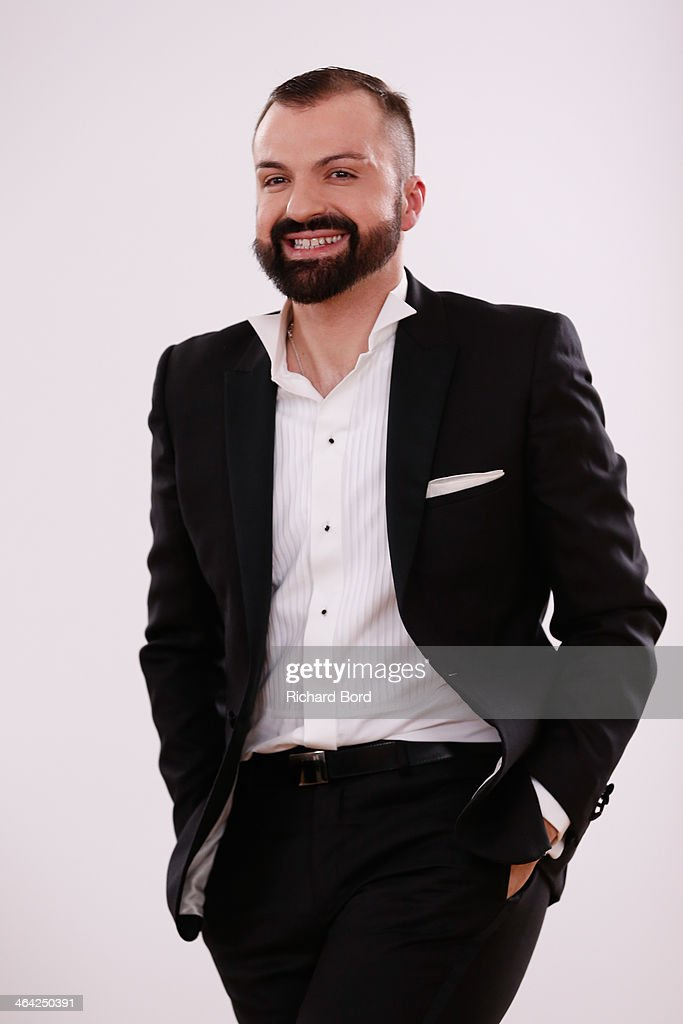 Designer Julien Fournie aknowledges the public after his show as part of Paris Fashion Week Haute Couture Spring/Summer 2014 on January 21, 2014 in Paris, France.