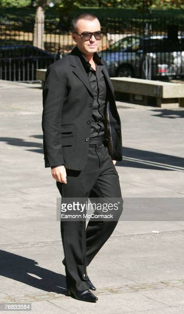 Designer Julien MacDonald attends the Isabella Blow Memorial Service at Guards Chapel on September 18 2007 in London England